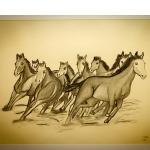Details: Zeichnung Pferd 7