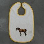 Details: Babylätzchen Pferd