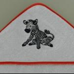 Details: Kapuzenhandtuch Zebra