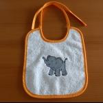 Details: Babylätzchen Elefant