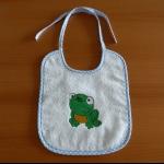 Details: Babylätzchen Frosch