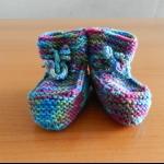 Details: Babyschuhe Violett/Blaugrün
