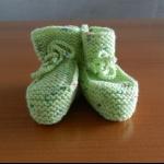 Details: Babyschuhe Hellgrün