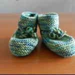 Details: Babyschuhe Grün/Blau