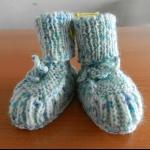 Details: Babyschuhe Grün