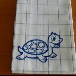 Details: Küchentuch Schildkröte