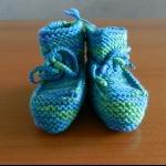 Details: Babyschuhe Blau/Grün