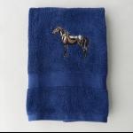 Details: Handtuch Dunkelblau Pferd
