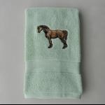 Details: Handtuch Hellgrün Pferd