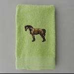 Details: Handtuch Lindgrün Pferd