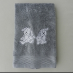Details: Handtuch Grau Hunde