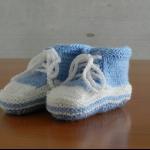 Details: Babyschuhe Hellblau/Weiss