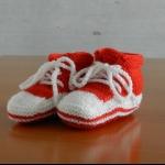 Details: Babyschuhe Rot/Weiss
