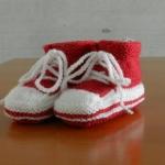 Details: Babyschuhe Fuchsia/Weiss