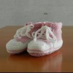 Details: Babyschuhe Rosa/Weiss