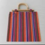 Details: Tasche Bunt mit Bambusgriff